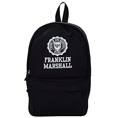 Franklin and Marshall Mens Mini Backpack in Black - One Size  Amazon ... 35fa7c58b890d
