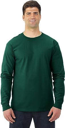 Camiseta de manga larga de algodón de alto gramaje, 4930R, de Fruit of the Loom: Amazon.es: Hogar