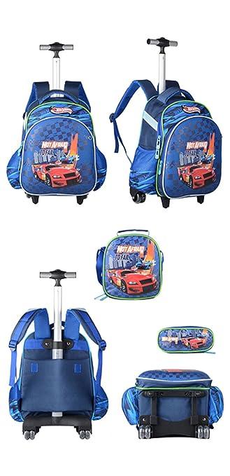 Niños Tres Piezas Trolley Mochila Escolar Bolso - Niña Niño Con Ruedas Equipaje De Viaje Para Niños Con Bolsa Trolley: Amazon.es: Equipaje