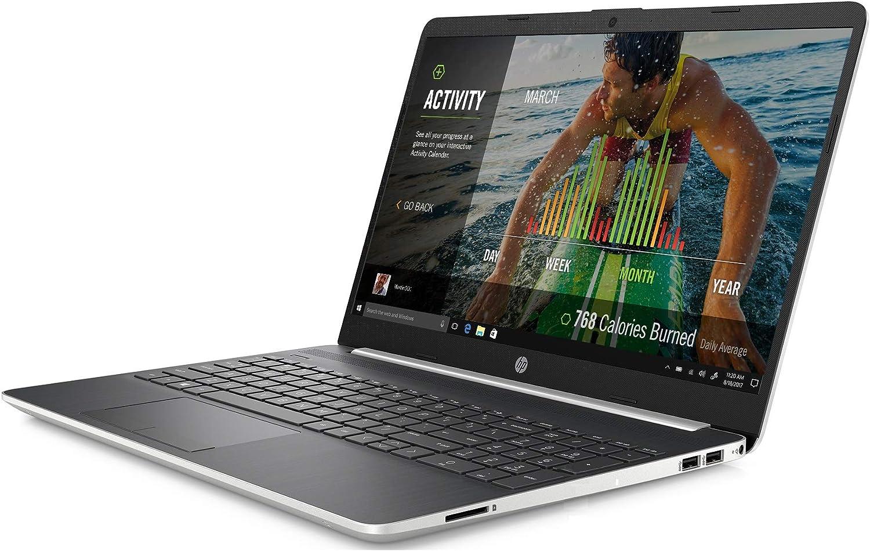 "HP 15-dw0037wm Notebook 15.6"" HD i3-8145U 2.1GHz 8GB RAM 1TB HDD Win 10 Home Ghost Silver (Renewed)"