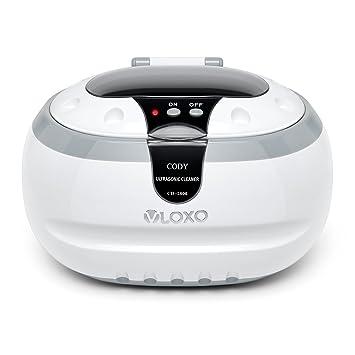 eb1a8ee5fb7e95 VLOXO Nettoyeur à Ultrasons Domestique 600ml Bac en acier inoxydable avec  Panier de nettoyage et Support