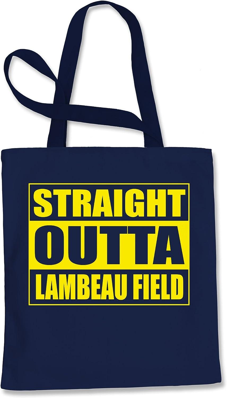 Tote Bag Straight Outta Lambeau Field Football Navy Blue Shopping Bag