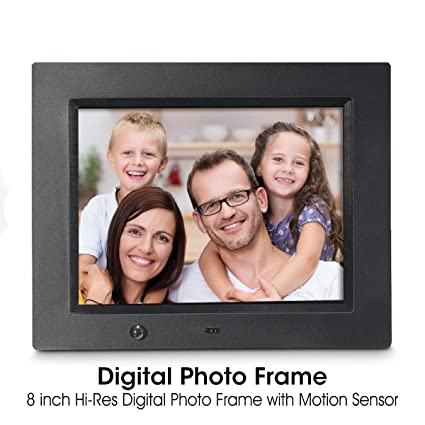Amazon.com : Digital Photo Frame, Wireless Mouse Control, 8 inch LCD ...