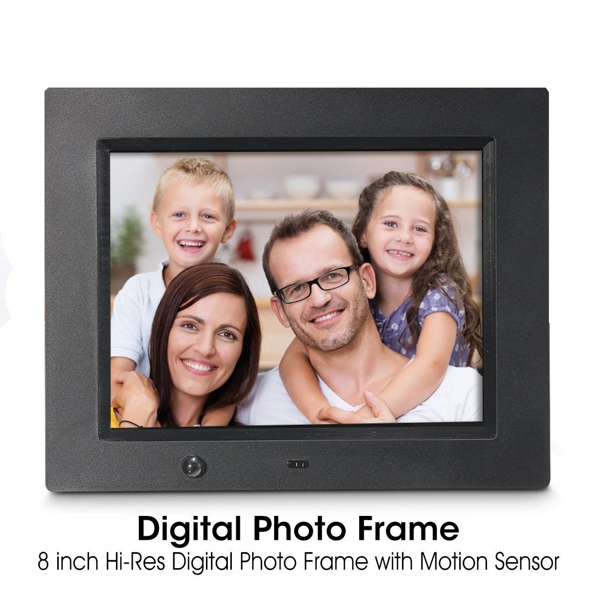 Digital Photo Frame, Wireless Mouse Control, 8 inch LCD Wi-Fi Cloud Digital Rahmen Photo Viewer with Motion Sensor & 720p HD Video & Music Playback, INSMA by INSMA