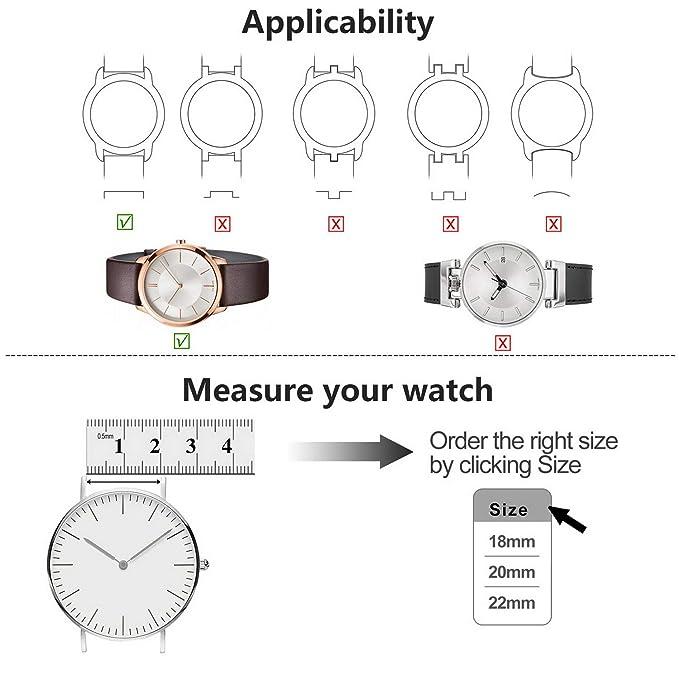 Fullmosa Correa de Reloj, Correa de Repuesto Smart Watch Armand con reemplazo de Reloj magnético de Acero Inoxidable para Damas y Caballeros