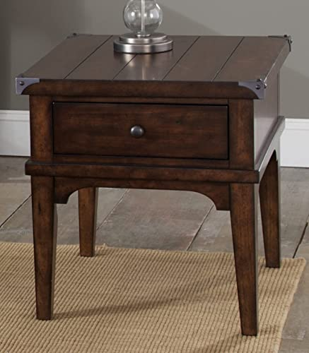 Liberty Furniture Industries Aspen Skies End Table, 23 x 27 x 24 , Medium Brown