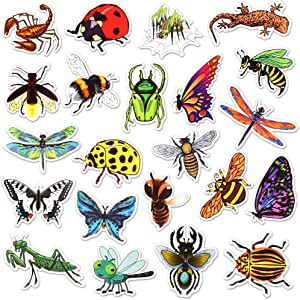 Waterproof Vinyl Insect Laptop Water Bottle Scrapbook Stickers Pack (50 Pcs)