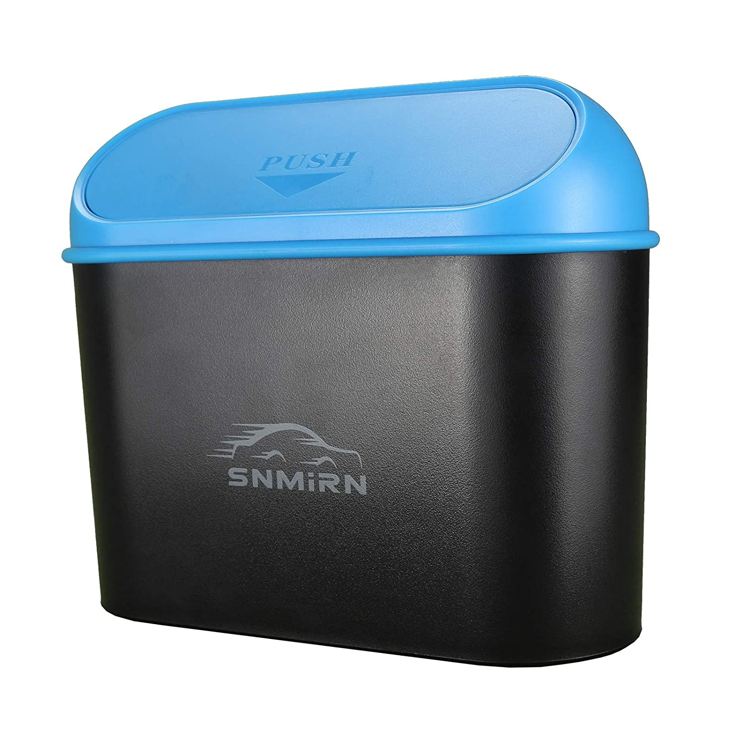 Car Trash Can,Mini Car Garbage Can,Portable Hanging Wastebasket Trash Can with Lid, Automotive Garbage Can Bin Trash Container for Cars, Home, Office (Blue)