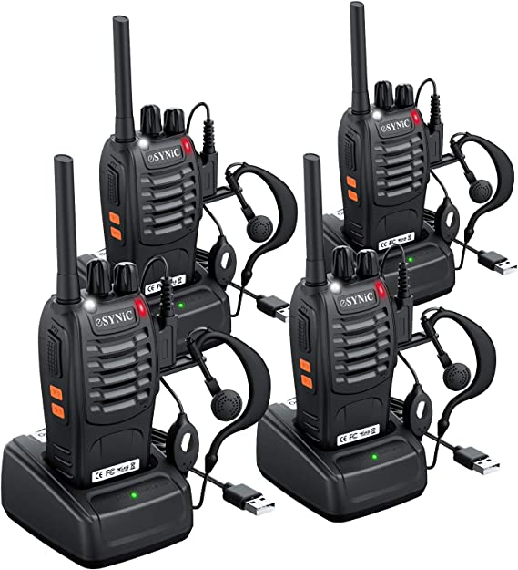 Ltd ANSIOVON Walkie Talkie-Rechargeable Long Range Two Way Radio-16 Channels-LED Flashlight -Earpiece-UHF 400-470Mhz-Professional Walky Talky-1500 Mah Rechargeable Li-ion Battery A-006 Shenzhen Xinchaohui Trading Co Include -6 Pack