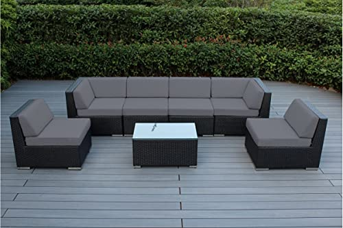 Ohana 7-Piece Outdoor Patio Furniture Sectional Conversation Set