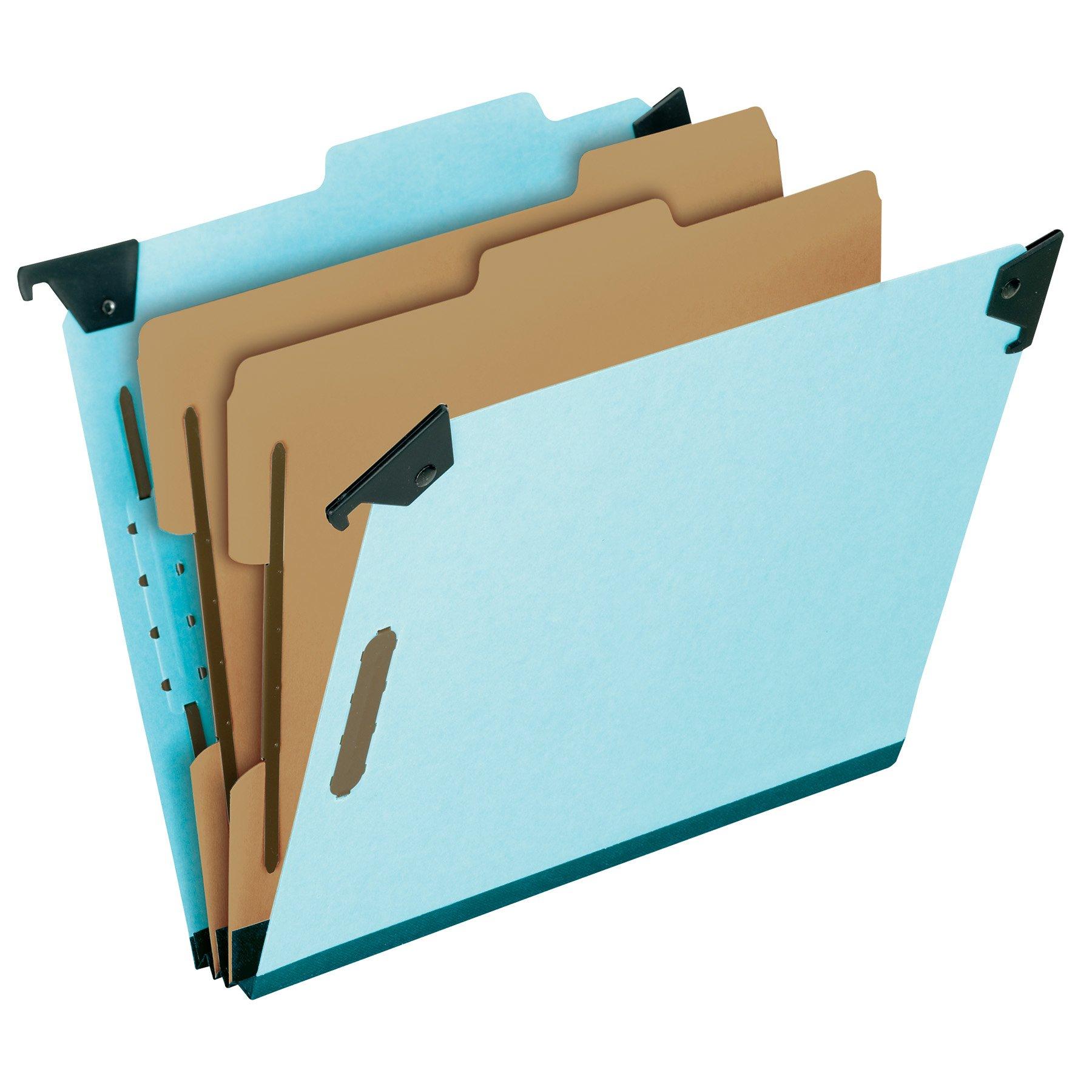 Pendaflex Hanging Classification Folders, Legal Size, 6 Section, 2'' Expansion, Blue, 1/3 Cut, 10/BX (59352EE) by Pendaflex