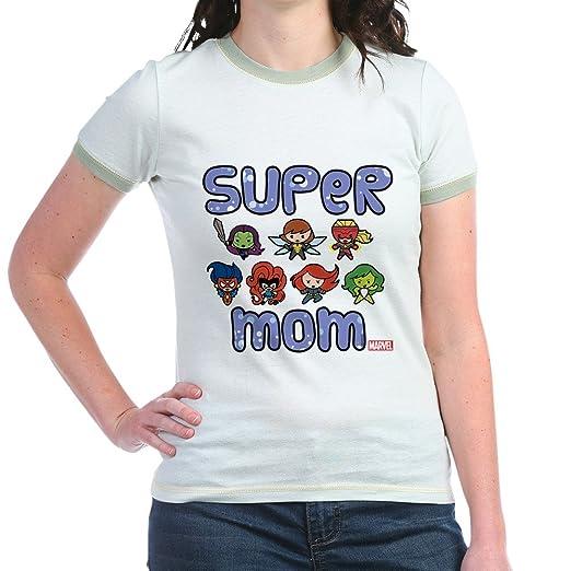 105327feb CafePress Marvel Super Mom Jr. Ringer T Shirt Jr. Ringer T-Shirt,