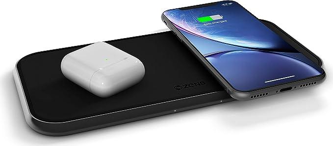 Amazon Com Dual 10 Watt Aluminum Wireless Charging Pad Qi