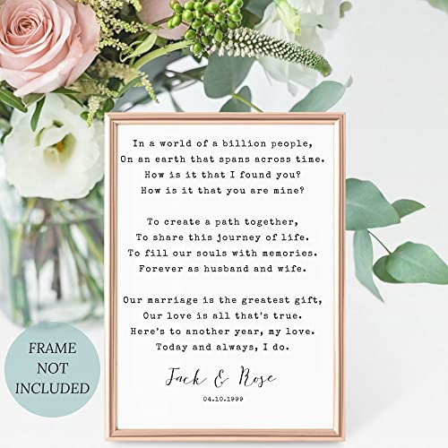 Amazon Marriage Anniversary Gift Personalized Poem Print 2nd