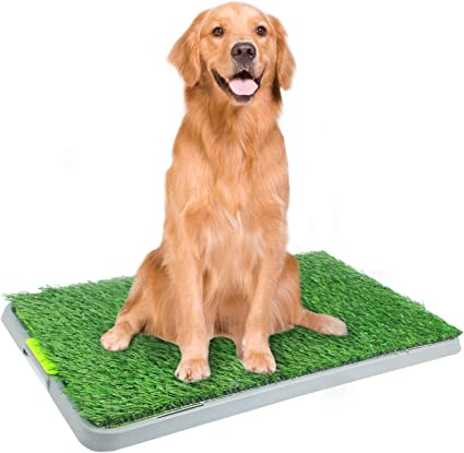 Dog Toilet Pet Puppy Potty House Training Indoor Trainer Mat Tray Holder Plastic