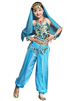 BellyQueen Belly Dance Traje de Danza de Vientre Top Pantalones ...