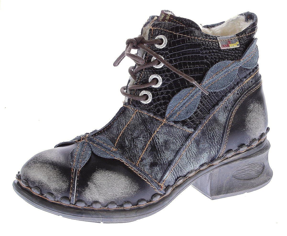 TMA Damen Winter Stiefeletten echt Leder Schuhe gefüttert Comfort Stiefel 5188 Stiefel Gr. 36-42