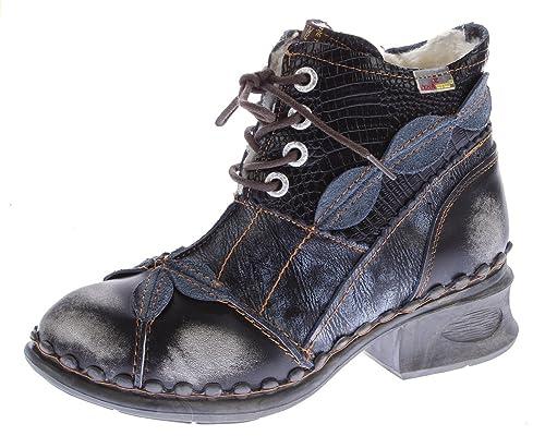 TMA Damen Winter Stiefeletten echt Leder Schuhe gefüttert Comfort Boots 5188 Stiefel Gr. 36 42
