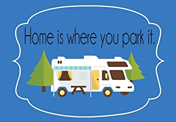 Home Is Where You Park It RV Camper Welcome Carpet Door Mat 18