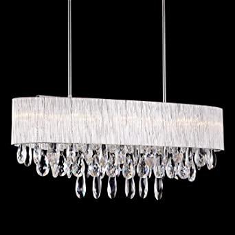Pendant light in oval ribbed glass tube shade 32 inches modern pendant light in oval ribbed glass tube shade 32quot inches modern k9 aloadofball Images