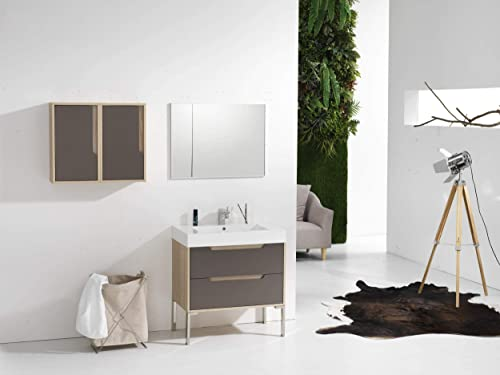 Dyconn Faucet VCA80W32 Bologna 32″ Wall Mounted Floating Bathroom Vanity