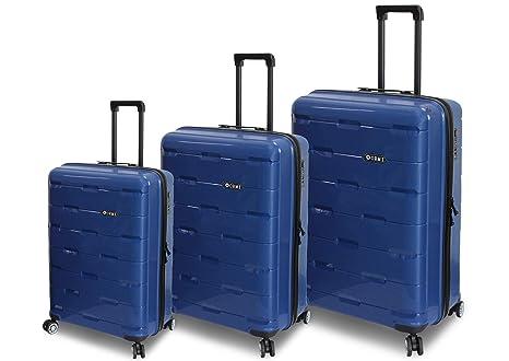 5c0ab98ef3 ORMI Set 3 Trolley In ABS 8 Ruote Con Bagaglio a Mano Lucchetto TSA Mod.