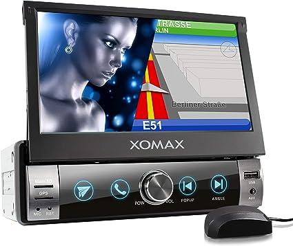 XOMAX XM-VN764 Autoradio con mirrorlink, navigatore GPS, vivavoce