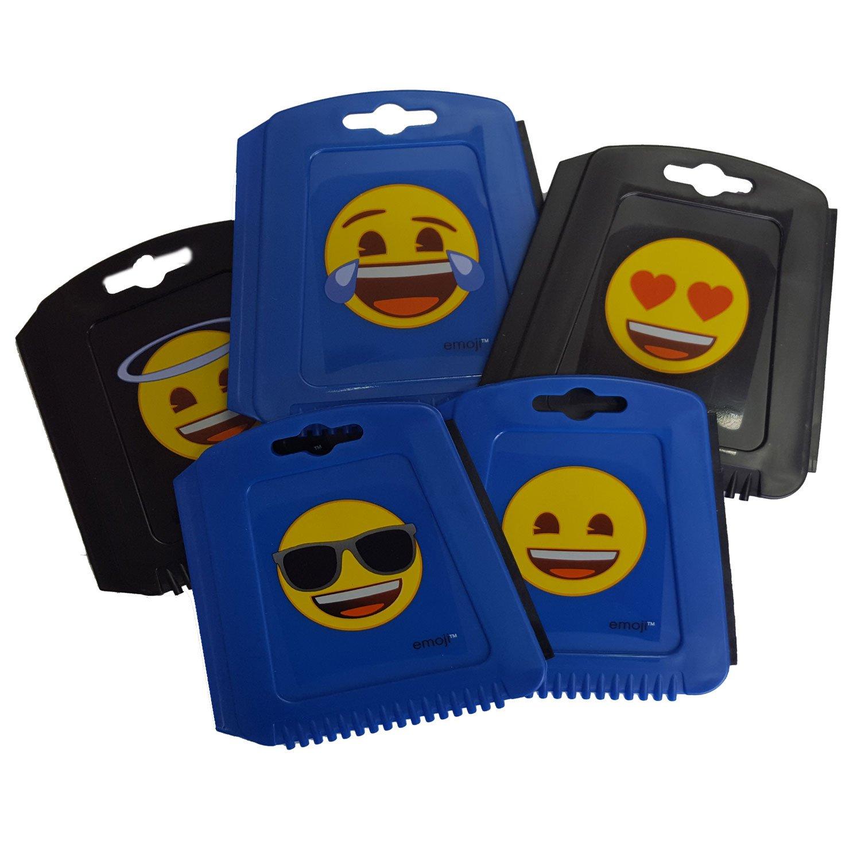 Auto Eiskratzer Eisschaber Emoji bunt Bedruckt mit Gummilippe