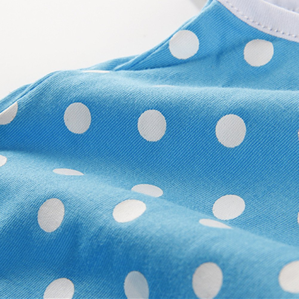 LittleSpring Little Girls Summer Outfit Polka Dot Camisole Tank Top and Shorts Set