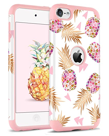 sports shoes fac96 6c5cb BENTOBEN iPod Touch 5 Case, iPod Touch 6 Case, Hybrid Solid PC Back Cover  Soft Silicone Bumper Pineapple Pattern Shockproof Heavy Duty Protective  Case ...
