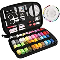 Sewing Kit Luxebell 92 Sewing Accessories Portable Travel Household Needlework Box for Girls Adults, Sewing Set for Home…