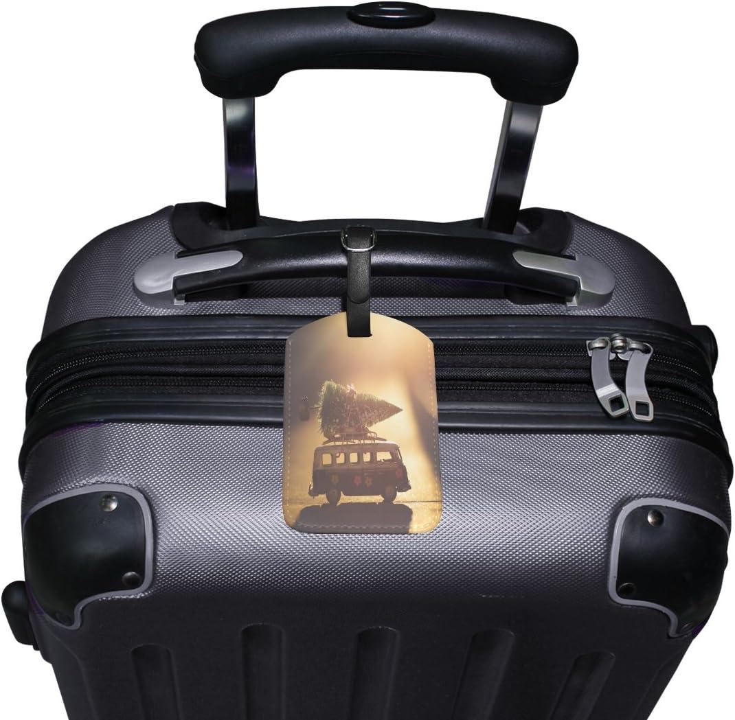 Saobao Travel Luggage Tag Train PU Leather Baggage Suitcase Travel ID Bag Tag 1Pcs