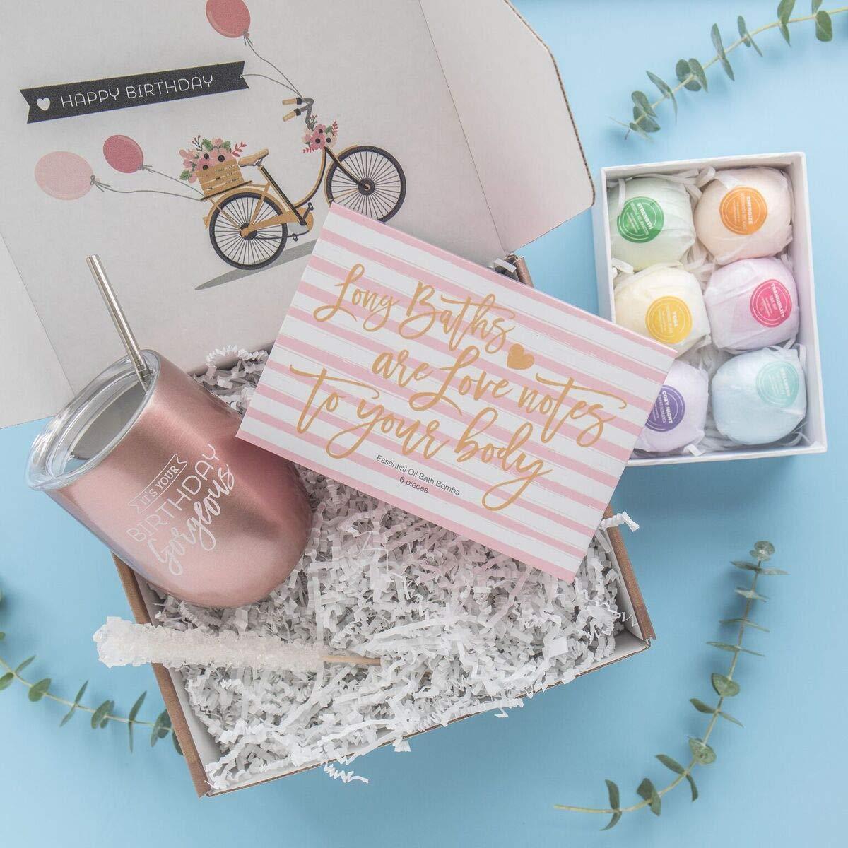 Amazon.com: Regalo de cumpleaños para mujer: vaso de acero ...