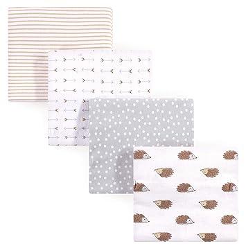One Size Hudson Baby Unisex Baby Cotton Flannel Burp Cloths Xoxo