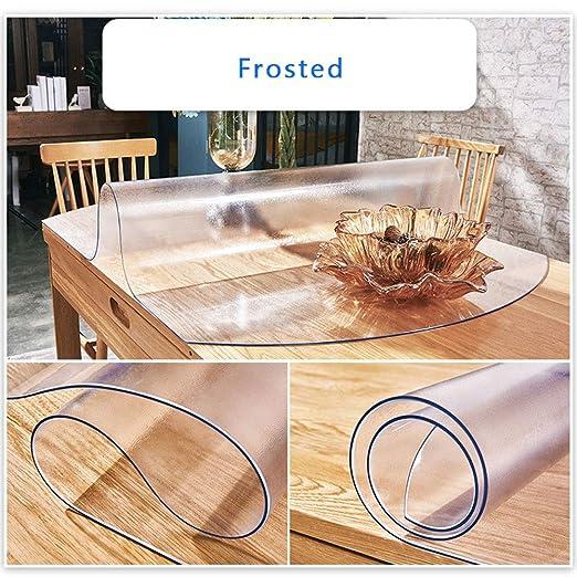 Mantel de cristal de PVC transparente con placa de cristal suave ...