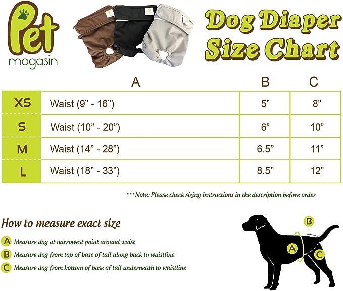 JoyDaog Wiederverwendbare Hundewindeln für Rüden waschbare Hundewi 4er Pack