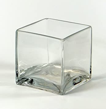 Amazon Vasefill Clear Square Glass Vase Cube 4 Inch 4 X 4 X