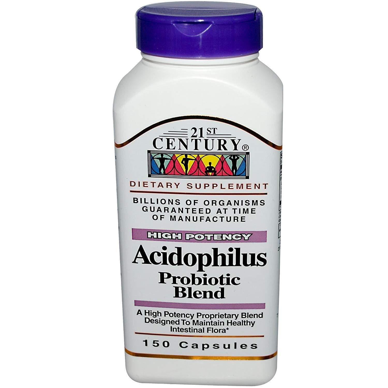21st Century Acidophilus Probiotic Blend Capsules - 150 ct, Pack of 3