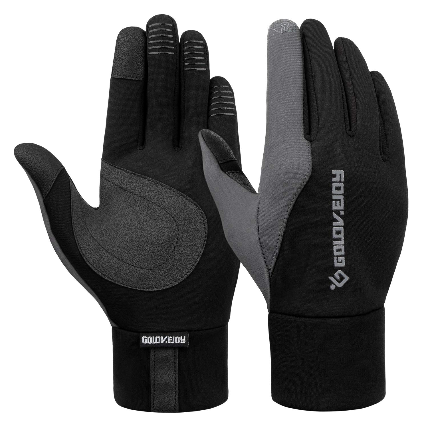 FitsT4 Winter Warm Touchscreen Windproof Gloves Cold Weather Waterproof Non-Slip Glove for Cycling Running Outdoor Activities FitsT4 Sports