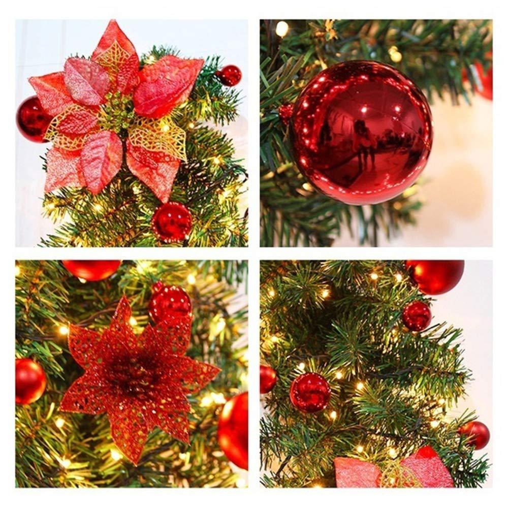 Covok Albero di Natale Rebe Feste di fine Anno 270 x 25 cm, Blu Decorazione di Compleanno 270cm Decorazione Natalizia in Rattan per Matrimoni Ghirlanda Decorativa San Valentino Pink
