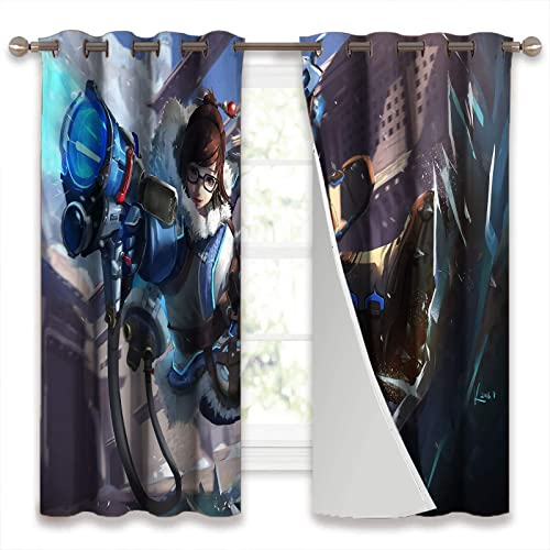 SSKJTC Grommet Curtain Panel Overwatch Ow Mei Thermal Insulated Drapes