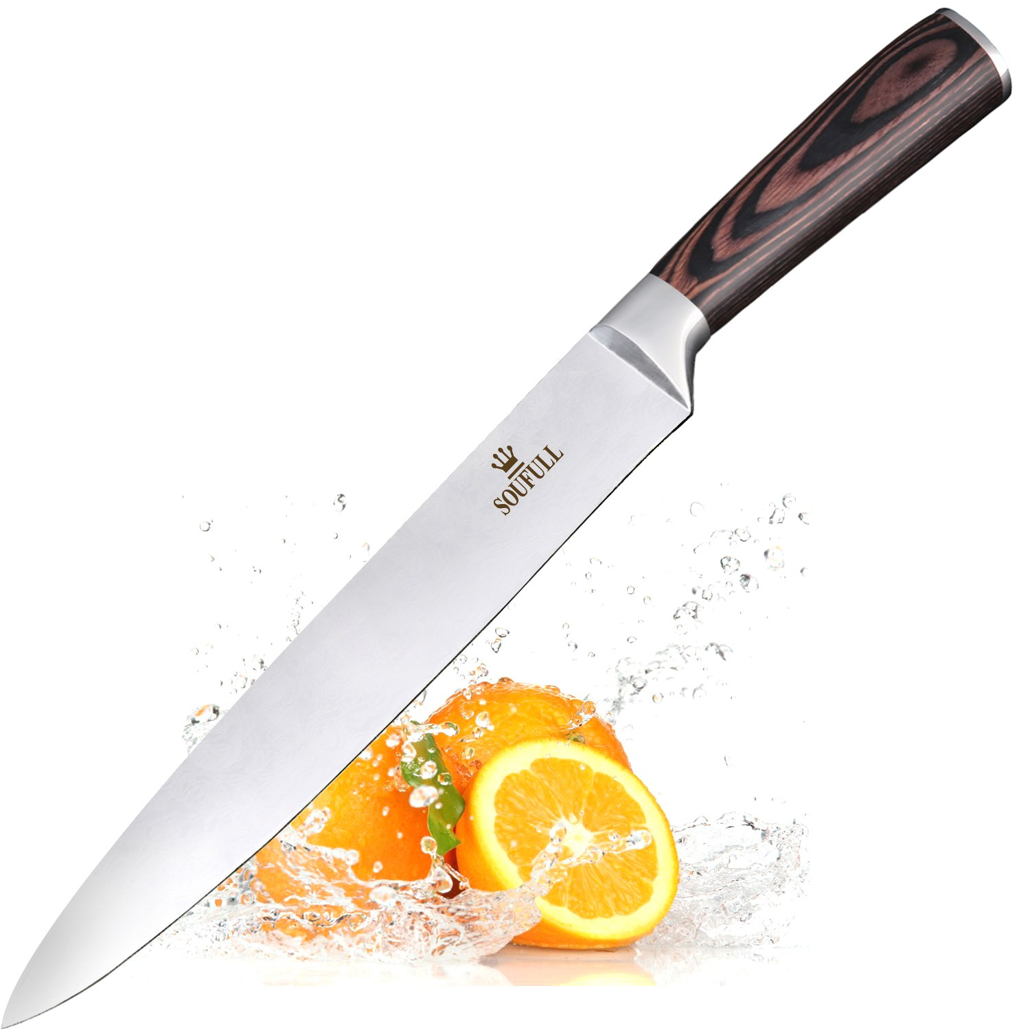 Chef Knife Soufull 8 inches High Carbon Stainless Steel Knife Japanese Professional Gyutou Knife with Ergonomic Handle