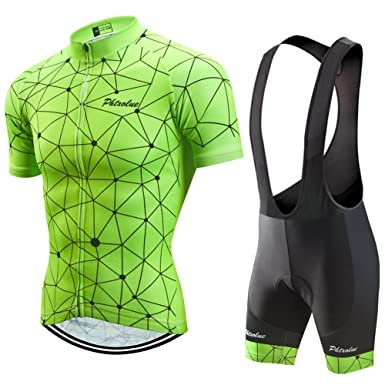 PHTXOLUE Men s Cycling Jersey Set Bicycle Short Sleeve Set Quick-Dry  Breathable Shirt+3D 8f2e14507