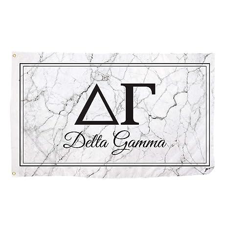 delta gamma marble box letter sorority flag banner 3 x 5 sign decor dg