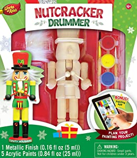 Amazon 12 unpainted blank wooden nutcracker with paint fur masterpieces works of ahhh nutcracker drummer large wood paint kit solutioingenieria Image collections