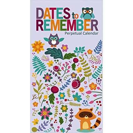 Amazon Com Dates To Remember Perpetual Wall Calendar Home Kitchen