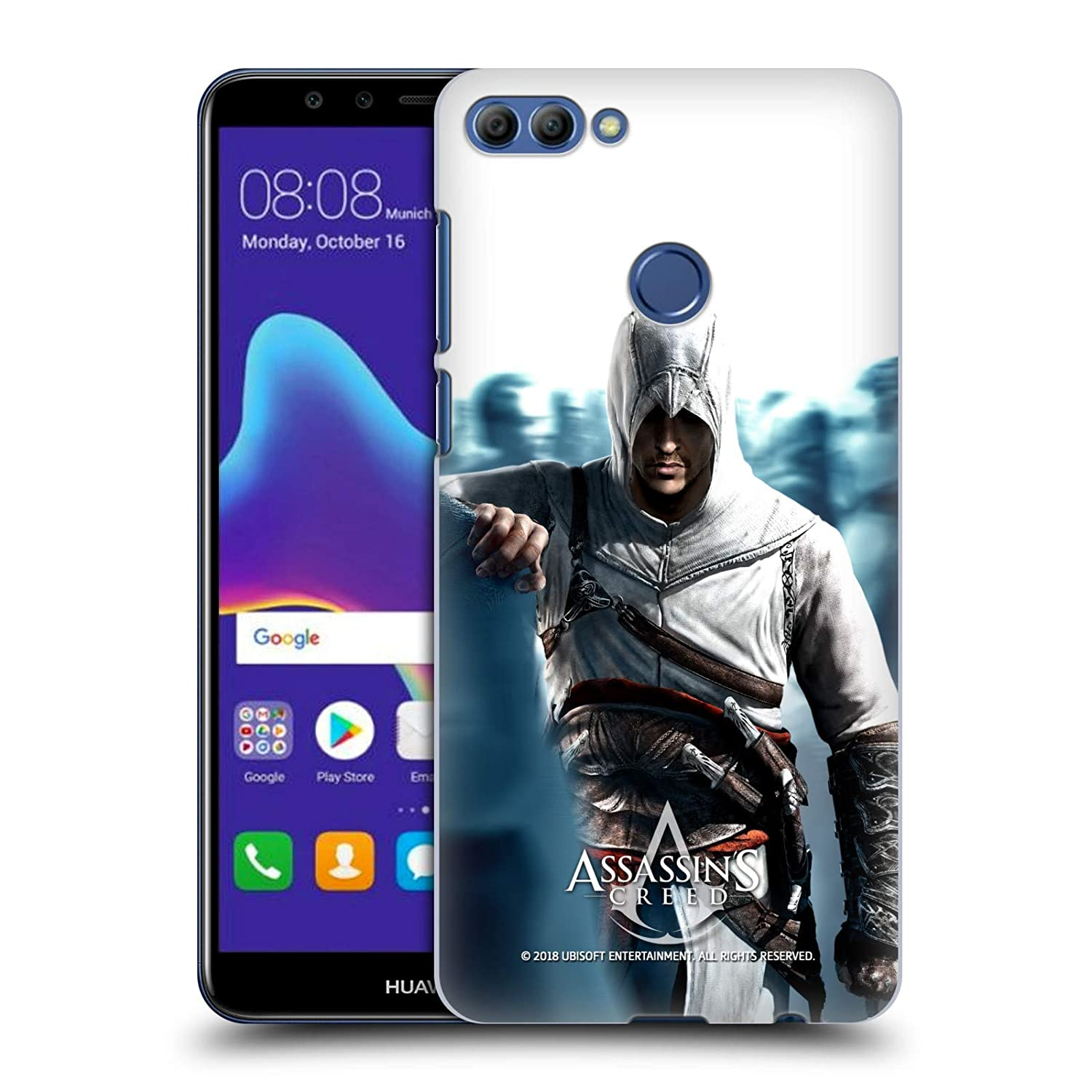 Amazon.com: Official Assassins Creed Altaïr Half Key Art Hard Back Case for Huawei Y9 2018 / Enjoy 8 Plus: Cell Phones & Accessories