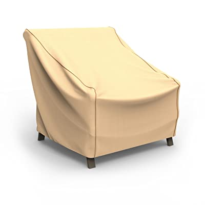 Budge P1W04TNNW1 Sedona Patio Chair Cover Waterproof, Durable, Extra Large, Tan : Garden & Outdoor