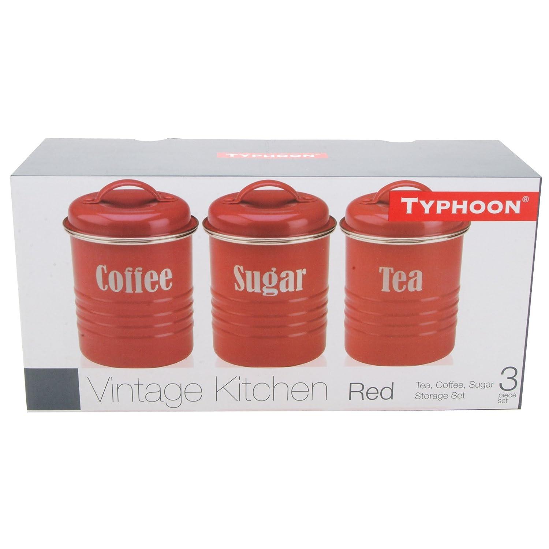 amazon com typhoon vintage kitchen tea coffee sugar canisters