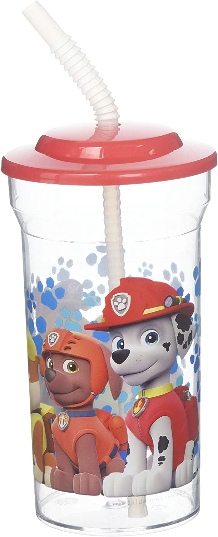 Kids Water Bottles Mini Cartoon Straw Lid Drinking Tumbler Plastic Kitchen Tools